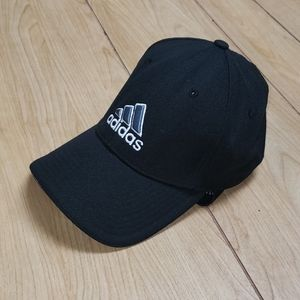 ADIDAS BLACK FITTED CLIMALITE BASEBALL HAT